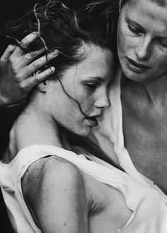 by Peter Lindbergh From A Windy Summer Day, for Vogue (Italy), May 1999.