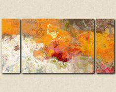 Arte abstracto tríptico de gran tamaño 40 x 78 por FinnellFineArt