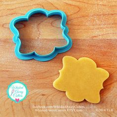 The Vicki Plaque Cookie Cutter  Two Sizes  by WhiskedAwayCutters, $7.00