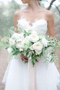 Elegant white peony wedding bouquet: www.stylemepretty... | Photography: McCune Photography - www.mccune-photog...