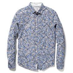 800bbf9fd5 Original Penguin SPLATTERED PAINT SHIRT Gingham Shirt, Flannel Shirt,  Casual Button Down Shirts,