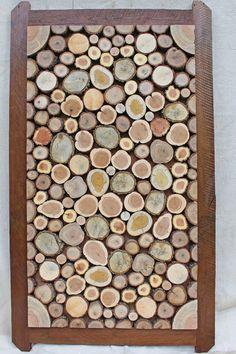 Framed Wood Slices, Wood Slice Craft
