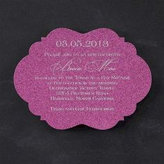 In the Pink Bat Mitzvah Invitation