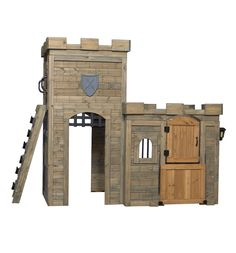 The regal theme of this castle play set gets your little kings and queens to give the screens a rest and take their imaginations outside. This realistic castle