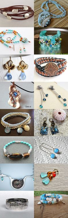 Unique Summer Jewels by Dru on Etsy--Pinned with TreasuryPin.com