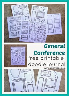 FREE LDS General Conference Doodle Journal Printable