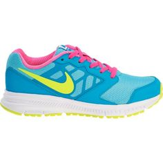 Your child's first day is bound to be bright with these neon Nike Kids' running shoes.