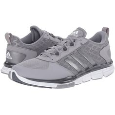 adidas Speed Trainer 2 Running Shoes ($75) ❤ liked on Polyvore featuring shoes, athletic shoes, synthetic shoes, baseball shoes, adidas footwear, adidas and traction shoes