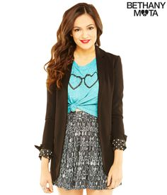 Solid Blazer from Bethany Mota collection at Aeropostale
