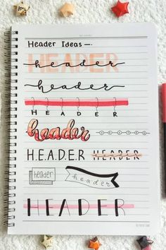 Looking for the perfect header / title to start off your pink themed bullet journal spreads? Check out these super fun header inspiration spreads to get ideas from! Bullet Journal Paper, Bullet Journal Headers, Bullet Journal Lettering Ideas, Journal Fonts, Bullet Journal Notebook, Bullet Journal School, Bullet Journal Ideas Pages, Bullet Journal Inspiration, Journal Pages