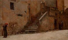 Artist: Belmiro de Almeida (1858–1935) Title: English: Street in Italy Português: Rua da Itália Datecirca 1889 oil on canvas