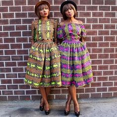 Our friends DPiper Twins are for sure #sundaybest ❤️ This look is fab #africanfashion #africanprint