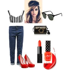 pinup by vasilisa-i on Polyvore featuring мода, Dolce&Gabbana, Gucci, Ray-Ban and NARS Cosmetics