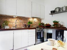 Декоративный кирпич в интерьере | Кирпич в интерьере квартиры, кухни - идеи, фото