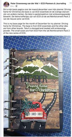 Christmas Journal, Holiday Planner, Elizabeth Craft Designs, Wale, Planner Book, Scrapbook Journal, Christmas Countdown, Mini Books, Tag Art