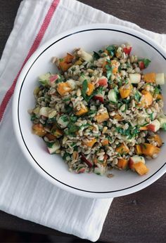 Farro with Butternut Squash & Apples