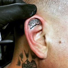 95 Best Ear Tattoo Designs In 10 Best Inner Ear Tattoo Designs Pretty Designs, 100 Ear Tattoos for Men Inner and Outer Design Ideas, 21 Behind the Ear Tattoo Ideas thoughtful Tattoos, 150 Sensuous Inner Behind the Ear Tattoos Ultimate Guide. Gangsta Tattoos, Chicano Tattoos, Dope Tattoos, Small Tattoos, Ear Tattoos, Tatoos, Finger Tattoos, Back Tattoos For Guys, Lower Back Tattoos
