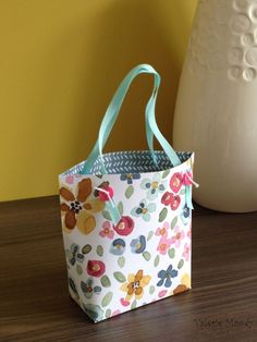 Stampin' Up! - Using the Gift Bag Punch Board #5 - Gift Bag Tote Bag - Stampin' Up! 2015 Annual Catalogue - Stamping With Val - Valerie Moody; Independent Stampin' Up! Demonstrator. X