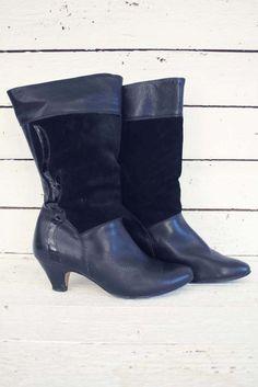elegant én praktisch: warm gevoerde vintage vintage laarzen. www.sugarsugar.nl