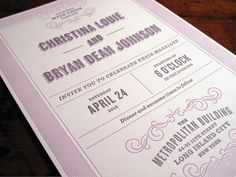 Bryan and Christina invites by Ken Rabe