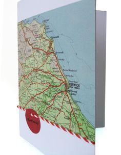 Kos personalised map birthday card £2.20
