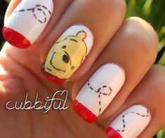 cubbiful: Pooh #nail #nails #nailart
