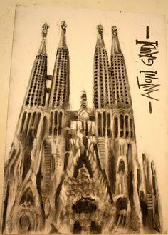 Sagrada Familia! - Charcoal Drawing by ~CaptainBoss on deviantART