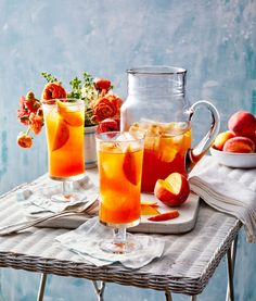 You love peaches, right? Bourbon Cocktails, Cocktail Recipes, Drink Recipes, Bourbon Recipes, Alcohol Recipes, Tea Recipes, Cocktail Drinks, Cooking Recipes, Refreshing Cocktails