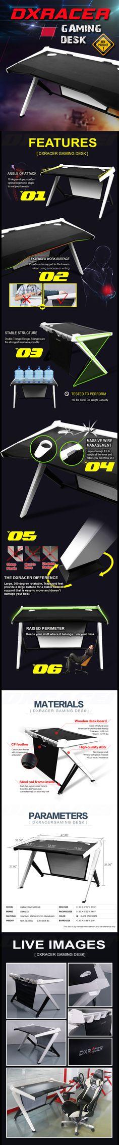 GD/1000/NW - Gaming Desk - Computer Desk | DXRacer Official Website