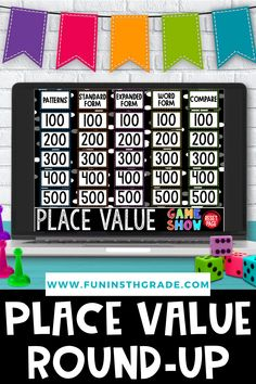 Are you an upper elementary teacher looking for place value resources? Here is a round up of great resources to use to introduce, teach and review place value. Find some great place value charts, games and more to simply your math instruction! Includes ideas for paper resources and digital resources to be used in the classroom and for distance learning! Rounding Games, Fun Math Games, Classroom Games, Math Patterns, Number Patterns, Upper Elementary, Elementary Math, Teaching 5th Grade, 4th Grade Math