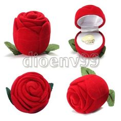 Rose-Romantic-Wedding-Ring-Earring-Pendant-Necklace-Jewelry-Display-Gift-Box-Red