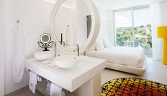 Providing a unique sense of luxury and comfort, the Grand Portal Nous' bedroom designs were conceived by the extremely proficient Dutch designer, Marcel Wanders. This stunning hotel in the Balearic Is Home Bedroom, Bedroom Decor, Bedroom Ideas, Modern Bedroom Design, Bedroom Designs, Best Interior Design, Minimalist Design, Marcel, Design Inspiration