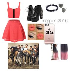 """""""magcon 2016"""" by anna-calum on Polyvore featuring WearAll, LE3NO, Betsey Johnson and Casetify"""