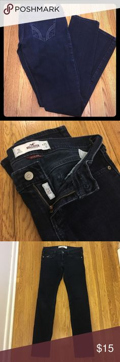 Hollister dark denim jeans Hollister so cal stretch jeans, Laguna Skinny in size 1 short (W 25, L 31) dark denim Hollister Jeans Skinny