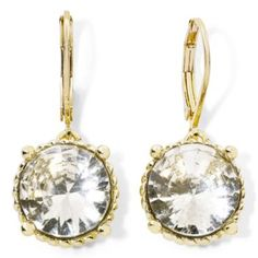 Monet® Gold-Tone & Crystal Drop Earrings   found at @JCPenney $14