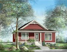 A small bungalow with country flair.