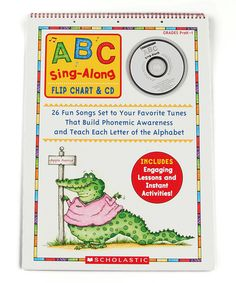 Look at this #zulilyfind! ABC Sing-Along Flip Chart & CD by Scholastic Teaching Resources #zulilyfinds