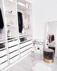 52 Trendy home organization ideas closet bedrooms Walk In Closet Design, Closet Designs, Closet Bedroom, Bedroom Decor, Decor Room, Ikea Closet, Bedroom Ideas, Master Closet, Dream Bedroom