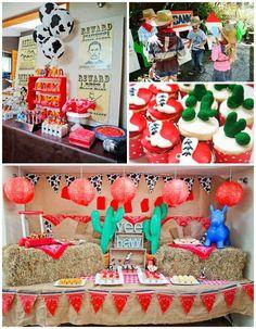Yee Haw Cowboy Birthday Party with So Many Really Fun Ideas via Kara's Party Ideas KarasPartyIdeas.com #cowboyparty #westernparty #wildwestp...