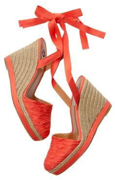 Coral Summer Wedges