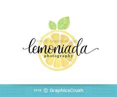 Lemon Logo Design Watercolor Lemon Logo Photography Logo Design Blog Logo Design