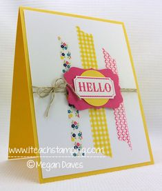 Washi Tape: How to Make a Greeting Card Using Washi Tape from Stampin' Up! – Video Tutorial! - I Teach Stamping