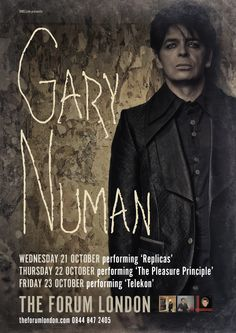 GARY NUMAN - Reveals details of three night residency at London's ForumWithGuitars