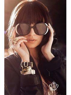 House of Harlow 1960 Womens Nicole Black Sunglasses