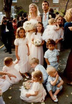 Daminha pajem vestido rosa roupa azul noivos casamento