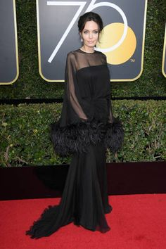 Actor/Director Angelina Jolie attends The 75th Annual Golden Globe Awards at The Beverly Hilton Hotel on January 7 2018 in Beverly Hills California