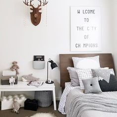 Boys Scandi bedroom. Styling and photography by Justine Ash