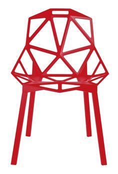 Chair_One de Konstantin Grcic pour Magis - LSD Magazine n°2 - Shopping Rouge