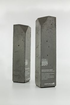 Concrete Institute of Australia | Custom Concrete Award Trophies | Design Awards