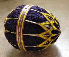 My 1st Temari egg by Carolyn Michelsen